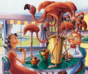 Tea with Flamingos