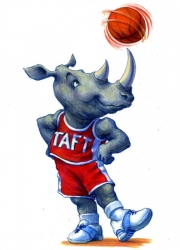 Funny Rhino with Basketball