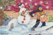 Snowman and Drum