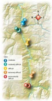 Klamath Rafting Map