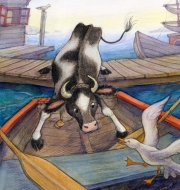 Annie the Cow in the Rowboat, September