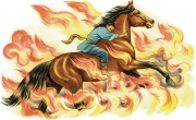 Horse Running Through Fire